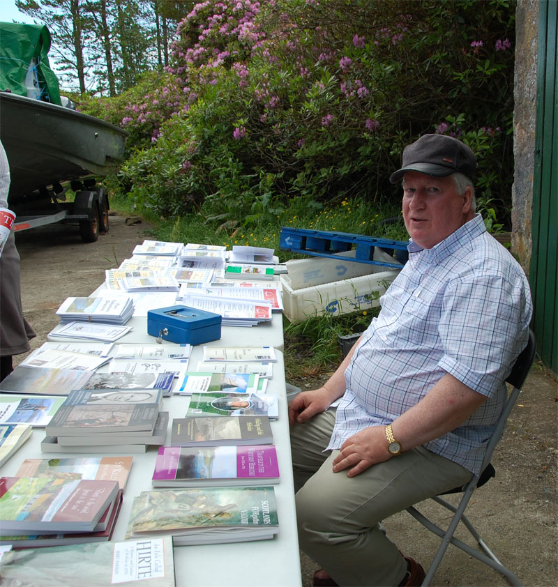 Donnie at the book sales tables