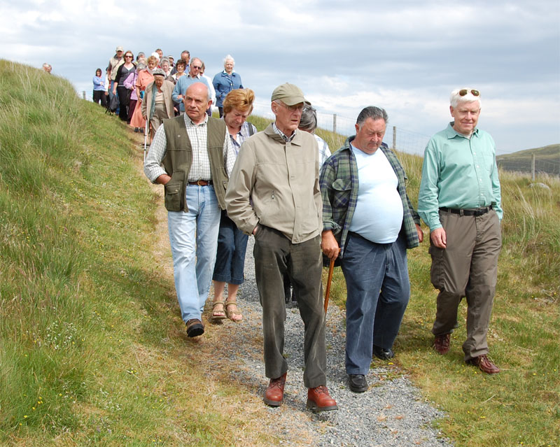 Group Leaving the Cairn