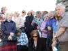 John Randall addresses the group at the Deer Park Raiders cairn