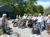 John Randall addresses the group at the Eiskein