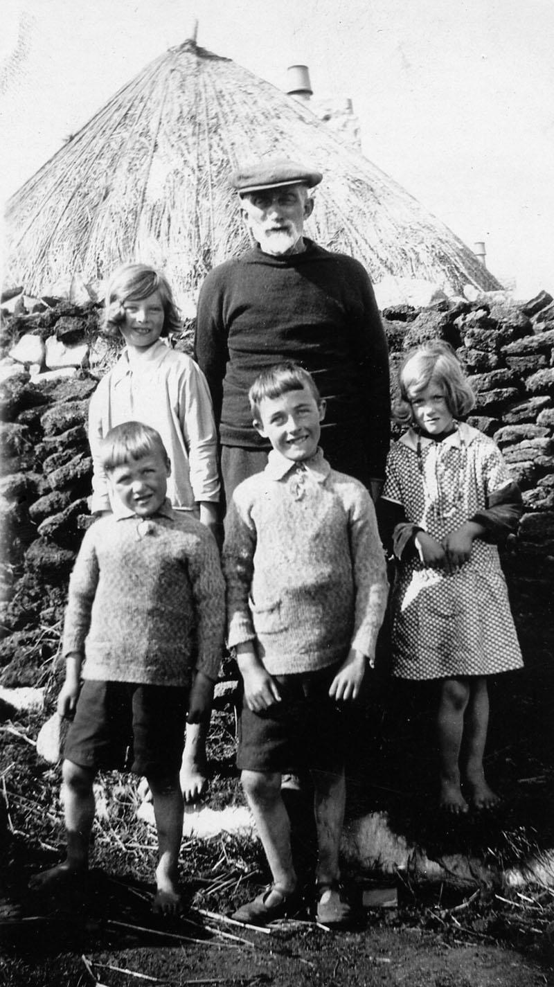Andrew Matheson with his grandchildren