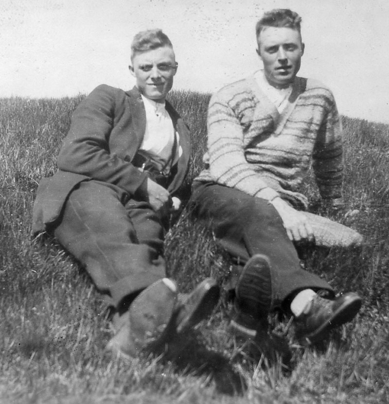 Duncan Matheson with brother Kenneth 15 Gravir