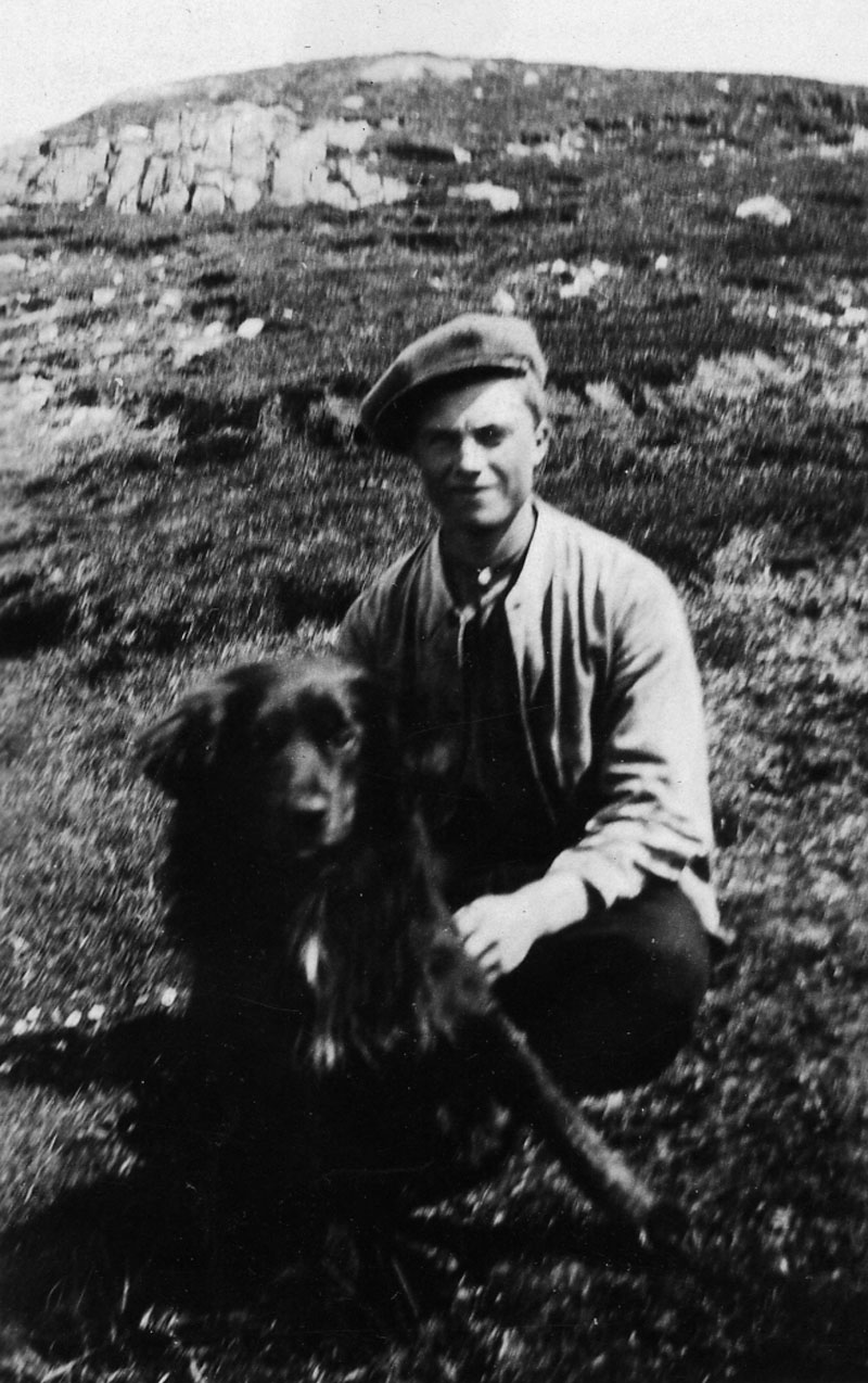 Duncan Matheson with his dog Wendy