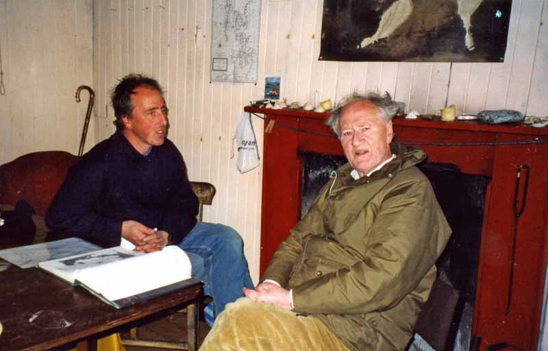 Adam Nicolson and his father Nigel on the Shiants