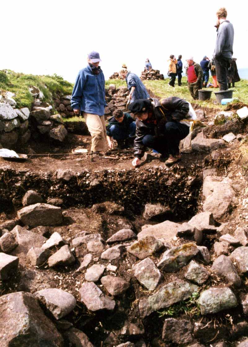 Dig in progress on the Shiants 2000